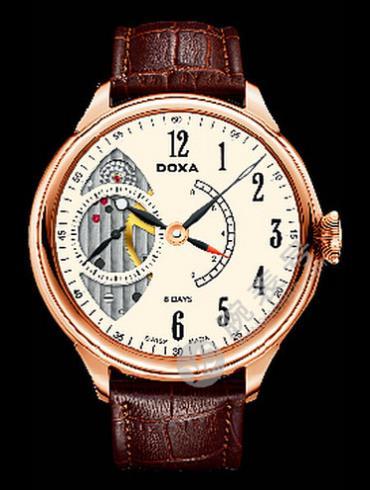 Doxa时度八日链腕表系列125.90.025SK.02男表棕色表带