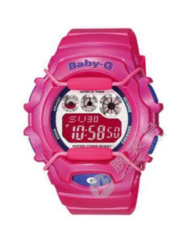 CASIO卡西欧BABY-G经典系列BG-1006SA-4A粉色表盘