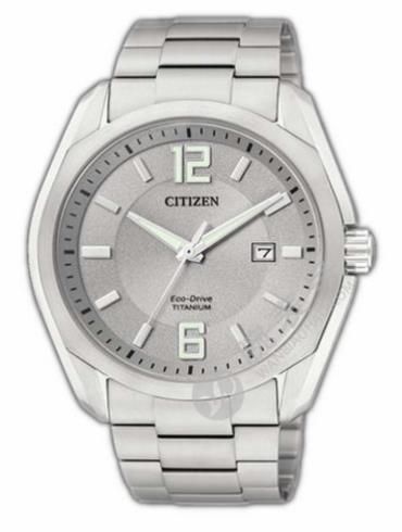 西铁城Titanium系列BM7081-51A银色表盘