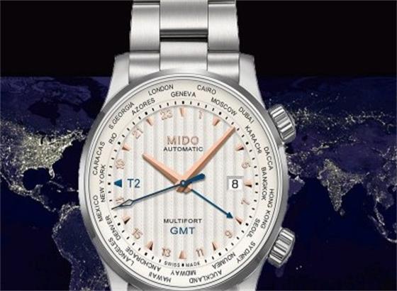 美度旅行者双时区手表