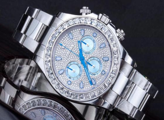 劳力士手表带蓝色表盘的三问表