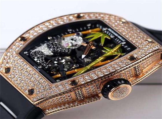 里查德米尔钻石陀飞轮熊猫手表