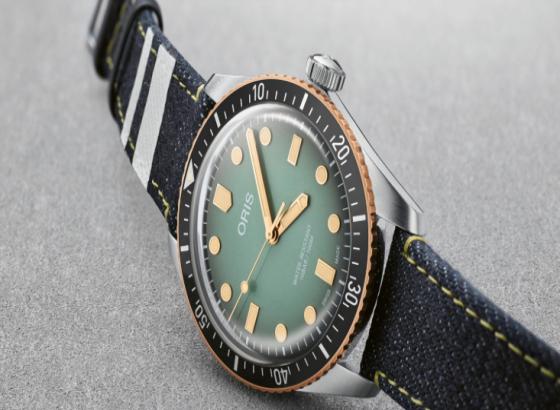 豪利时Oris X Momotaro牛仔裤特别版潜水员65手表