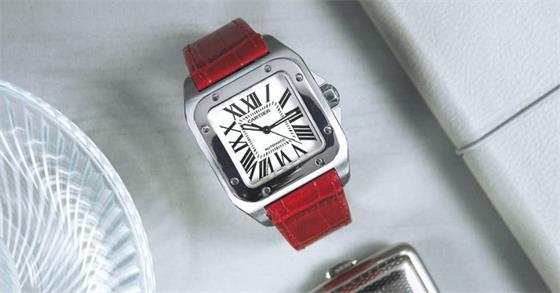 时尚运动腕表:卡地亚Cartier Santos 100