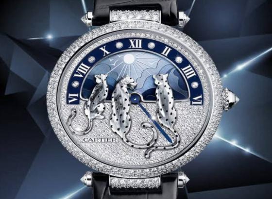 卡地亚猎豹造型钻石腕表出现走时问题