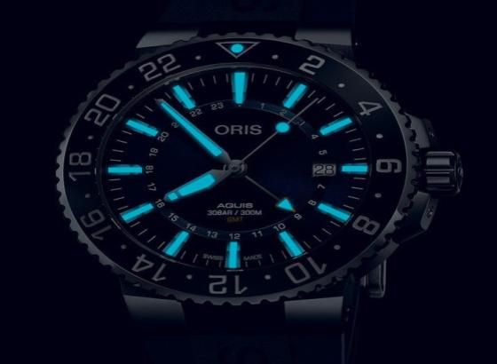 豪利时(Oris Aquis)GMT日期