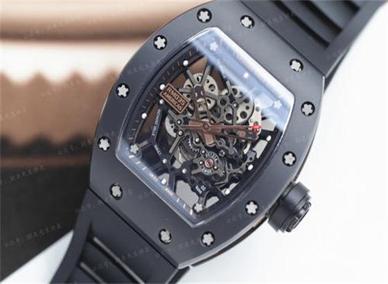 里查德米尔(Richard Mille)RM010镂空钛合金39毫米手表