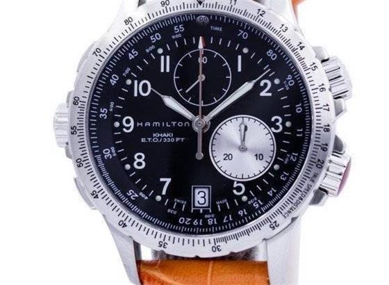 汉密尔顿卡其色军事手表