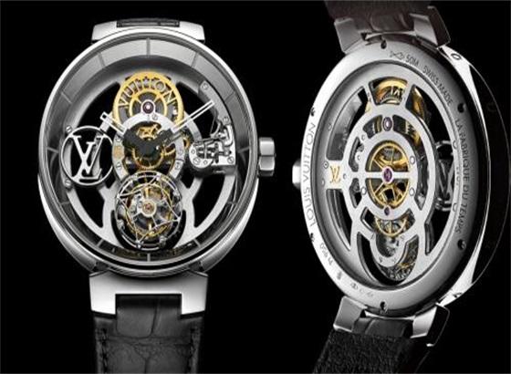 路易威登(Louis Vuitton)Tambour曲线飞行陀飞轮腕表