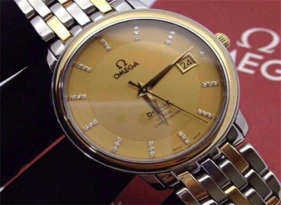 欧米茄腕表更换表带别针