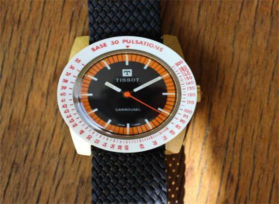 天梭Carrousel手表,带可互换表圈